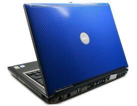 "Dell D630 Notebook Laptop DVD/RW 14"" Screen, WiFi - Office etc BARGAIN - BLUE Lid"