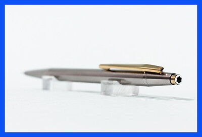 BLACK STAR Montblanc steel & gold NOBLESSE pencil for 0.5 mm refills, vintage