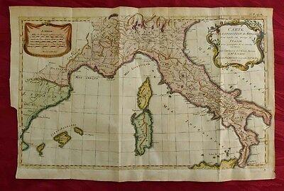 ITALIEN ITALIA SARDEGNA CORSICA MALLORCA KUPFERSTICH KARTE D'ANVILLE ROLLIN 1757