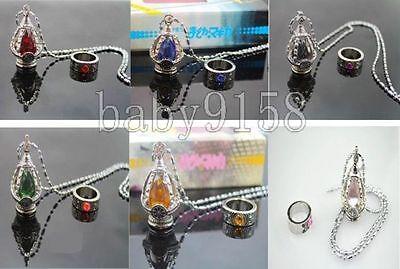Wholesale Cosplay Puella Magi Madoka Magica Soul Gem Necklace & Ring set 5Colors