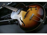 1957 Gibson ES-125 Semi Sunburst & Gator Hard Case - Lovely Example!
