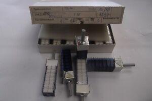 RFT Drehschalter Miniatur Schalter 2 Stk. DDR mit 7 Schaltmodulen blau