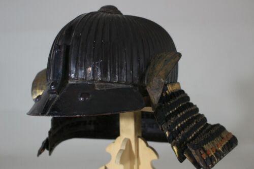 """62 KEN SUJI KABUTO (helmet) of YOROI : EDO : 15.4 × 14 × 9.8 """" 2.27kg"""