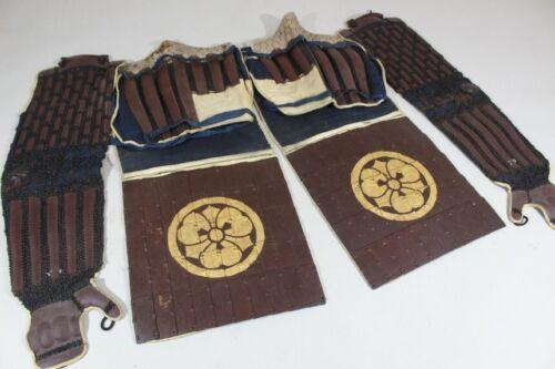 """SANGU (kote, haidate, Suneate) of YOROI (armor) : EDO : Kote 27.6 × 7.9 """" 2.86kg"""