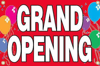 Grand Opening Vinyl Banner Sign 2x3 Ft - Red