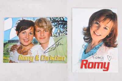 Romy Dadlhuber and Christian Gebhardt, German Singers, Signed, Autographs
