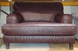 Adeline Leather chair in brown colour
