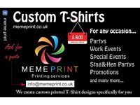 Custom Printed T-Shirts for events