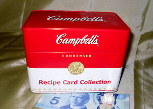 Sale $7.00 Campbell's soup recipe box with recipe's