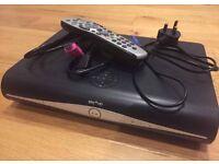 SKY PLUS HD BOX WITH REMOTE & ON DEMAND BOX