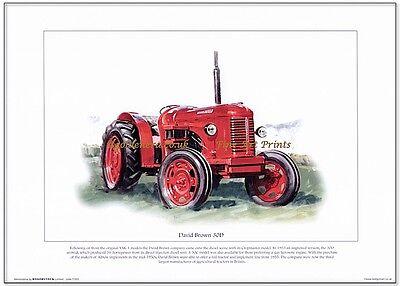 DAVID BROWN 30D LÁMINA ARTÍSTICA Británicos hecho por tractor del Años 50