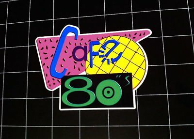 Cafe 80's Back to the Future 2 style vinyl decal / sticker bttf marty mcfly 80s - The 80's Style
