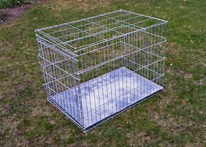 Intermediate-size dog crate cage kennel