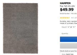 Grey Ikea Rug