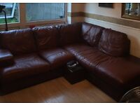 Real leather sofa - MUST GO!!!