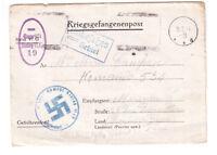 Lettre prisonnier de guerre en Allemagne postée vers la France.
