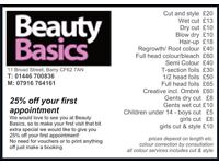 Beauty Basics Hair Salon Barry