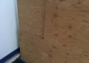 1 full and 1 partial sheet of 3/4 inch sanded plywood