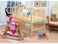 Tutti Bambini Jenny Cot with WHEELS and Sprung Mattress!