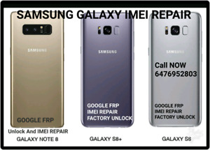 Samsung LG bad imei repair S8 S7 S9 A7 NOTE8 G6 G5 GOOGLE FRP