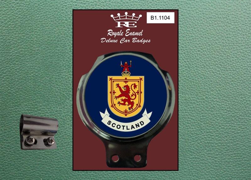 Royale Classic Car Badge /& Bar Clip SCOTLAND Mod B1.1104