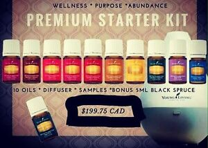 Young Living Essential Oils Kit with diffuser & 11 oils!
