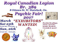 Exhibitors and Product Vendors wanted for  Havelock Psychic fair