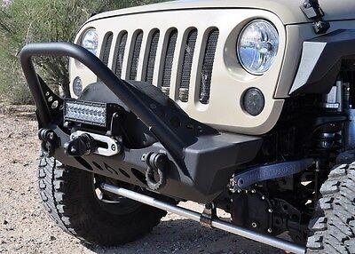 ARTEC Nighthawk Series Front Bumper, Mid Tube Stinger For 07-18 Jeep Wrangler JK