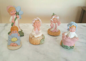 Vintage PEPIWARE Figurines - FORGET ME NOT Flowers - England