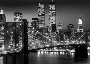 Brooklyn bridge print ebay new york brooklyn bridge giant poster print 55x39 malvernweather Gallery