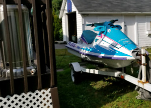 1995 polaris slt 750 pwc with trailer and cover