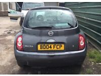 2004 NISSAN MICRA AUTOMATIC SPARES OR REPAIRS