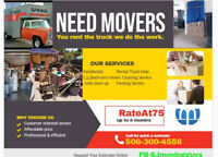 SJ MOVING GUYS  you rent the truck we do the WKtext 506.300.4558