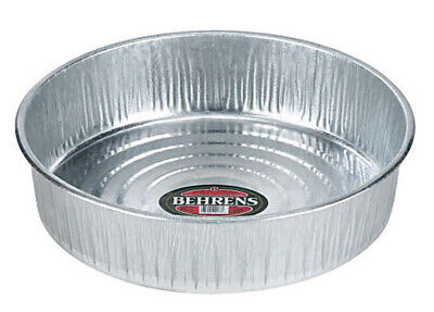 Behrens 2168 Seamless Feed Pan For Livestock 3 Gallon