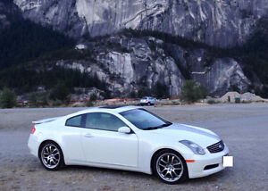 Beautiful White 2005 Infiniti G35 Couple 6-speed