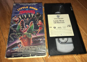 "VHS 1986  Cult Comedy Horror Movie ""LITTLE SHOP OF HORRORS"""