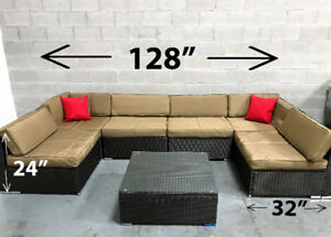 Patio Wicker Furniture outdoor TWO SETS OF COVERS INCLUDED!