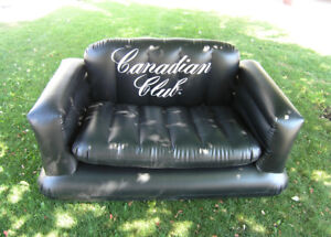 CANADIAN CLUB WHISKEY ... FUN COLLECTABLE BLOW UP LOVE SEAT