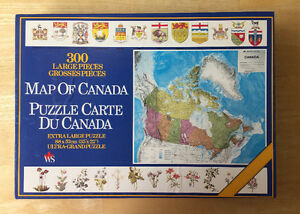MAP OF CANADA PUZZLE - Vintage 1986