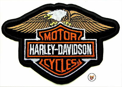 HARLEY DAVIDSON DOWN WING EAGLE BAR & SHIELD PATCH * DISCONTINUED * VEST JACKET
