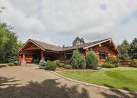 Log Home & Equestrian Facility - Unreserved Auction - Lacombe AB