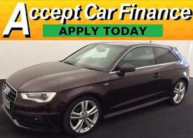 Audi A3 2.0TDI ( 150ps ) ( 13MY ) 2013MY S Line FROM £62 PER WEEK!