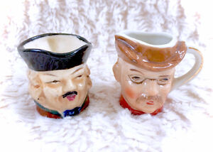 Unique Ceramic Vintage Antique Teeny Tiny Mugs With Faces