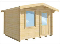 3m x 2.5m log cabin