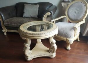 Loveseat, Armchair, Side/Coffee Table