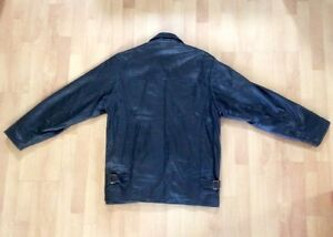 Black Leather Car Coat (Men's) West Island Greater Montréal image 2