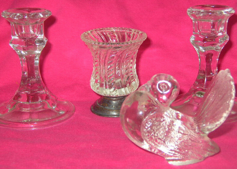 OBO Glass Candle holders Figurine Toothpick holder