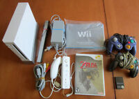 Nintendo Wii - Console, controller, cables, Zelda game and more