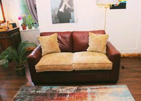Genuine Leather Ashton 2 Seater Sofa Bed