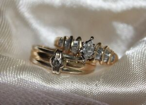 Marquise with bagettes & Yellow White band with diamond